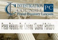 """Press Release Re:  Cosimo """"Cosmo"""" Polidoro"""