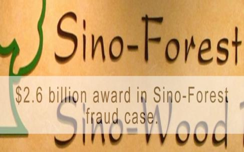 $2.6 billion award in Sino-Forest fraud case